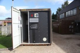Verplaatsbare biovergister verwarmt appartement