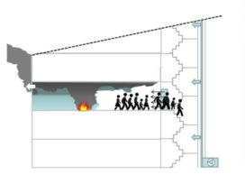 Overdruksysteem voor brandveiligheid in trappenhuis