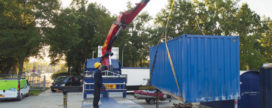Custom-made bouwcontainer biedt uitkomst bij nieuwbouw schoolgebouw
