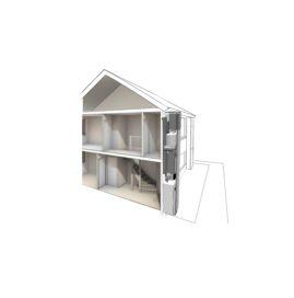 Warmtepomp in installatiekolom