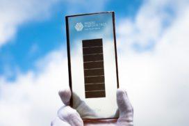 Nieuw type zonnecel eind 2018 op de markt