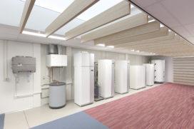 Trainingsruimte voor warmtepompen