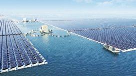 Grootste drijvende zonnepark ligt op ondergelopen kolenmijnen
