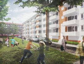 Woningcorporatie maakt 157 portiekwoningen energieneutraal