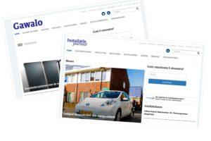 Nieuwe sites voor Gawalo en Installatie Journaal