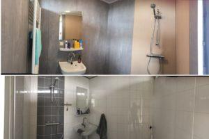 Badkamer in een dag gerenoveerd