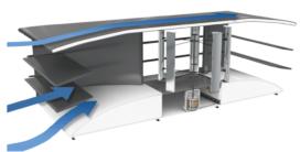Test met energiemodule op dak hoogbouwflat