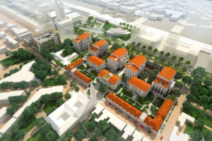 Thermische ringleiding verbindt appartementen Clarissenhof