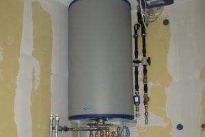 Warmwatervoorraad beperkter met warmtepomp